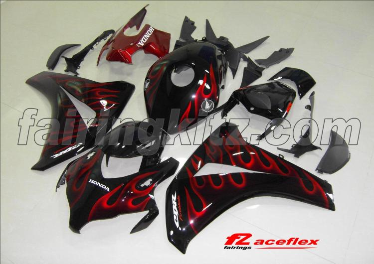 CBR1000RR 2008-11 Black & Red flames