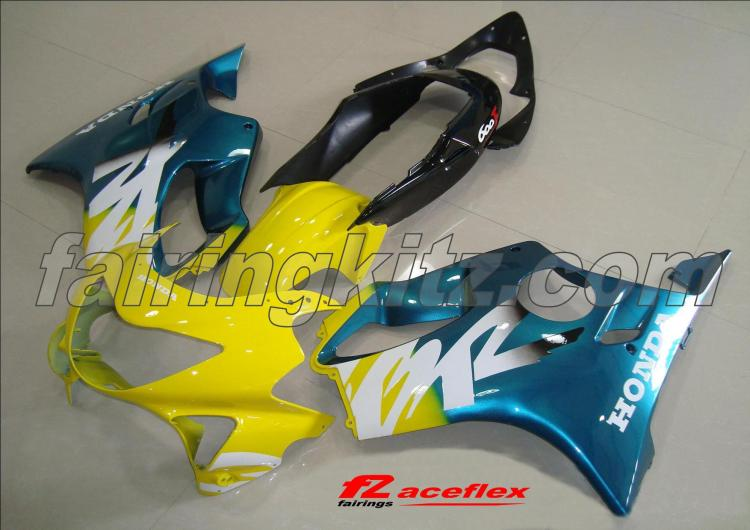 CBR600F4 1999-00 Green Yellow & White