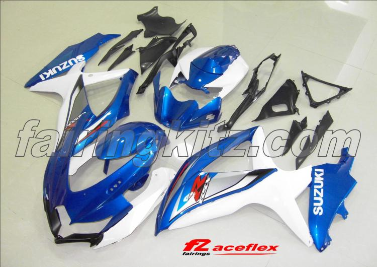 GSXR600 2008-10 Blue & White - Click Image to Close