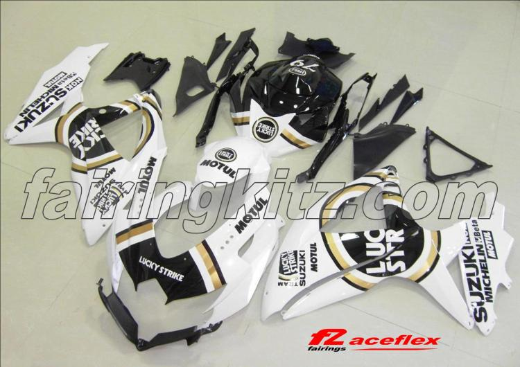 GSXR600 2008-10 Lucky Strike Black & Gold