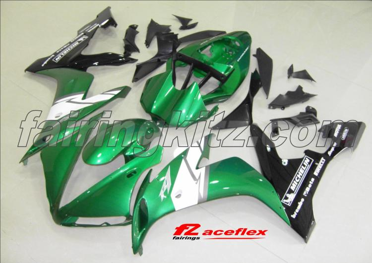 YZF R1 2004-06 Green White & Black