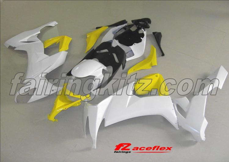 ZX10R 2008-10 White Black and Yellow