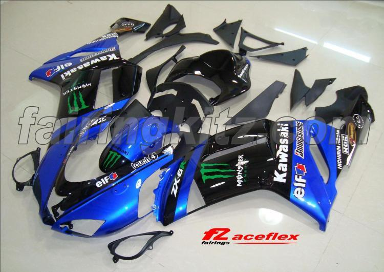 ZX6R 2007-08 Monster Azul