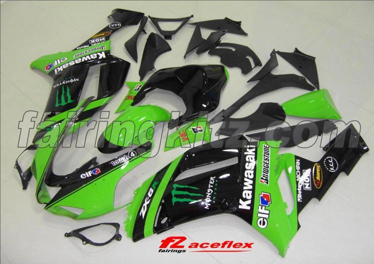 ZX6R 2007-08 Monster Black & Green
